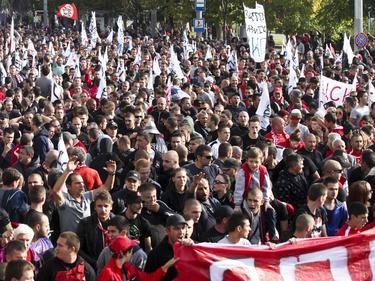 CSKA-Fans demonstrieren in Sofia