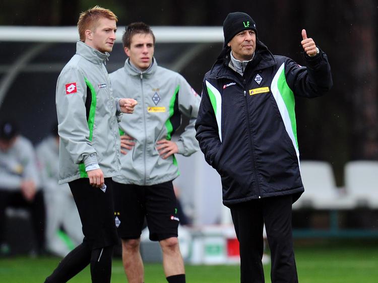 Marco Reus (l.) und Lucien Favre arbeiteten in Gladbach schon mal zusammen