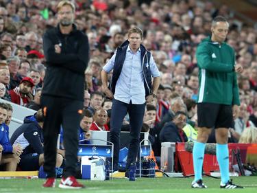 Julian Nagelsmann (M.) erlebte einen bitteren Europapokal-Abend