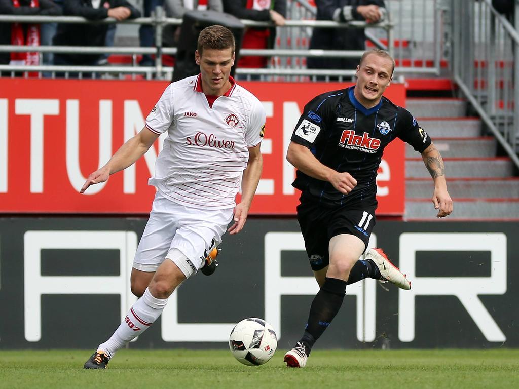 Sven Michel (r.) und der SC Paderborn gewinnen Spektakel in Würzburg