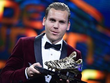 Vormer con la Bota de Oro de la liga belga. (Foto: Proshots)