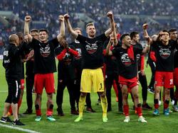 Eintracht Frankfurt jubelt über den erneuten Finaleinzug