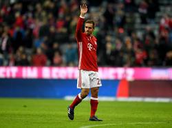 Philipp Lahm wurde in der 77. Minute eingewechselt