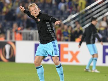 Dirk Kuyt no sonrió ante el Fenerbahçe. (Foto: Getty)