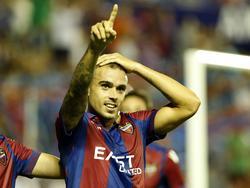 Roger marcó tras cinco jornadas y dio la victoria al Levante UD. (Foto: Imago)