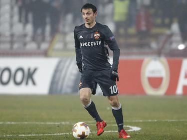 Moskaus Alan Dsagojew erzielt den Siegtreffer gegen für ZSKA