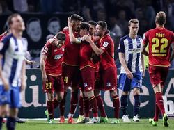 Los jugadores del Hoffenheim celebran un tanto. (Foto: Getty)