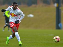 Patson Daka erzielt ein Tor für Sambia