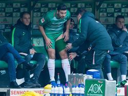 Claudio Pizarro musste gegen die Bayern vorzeitig runter