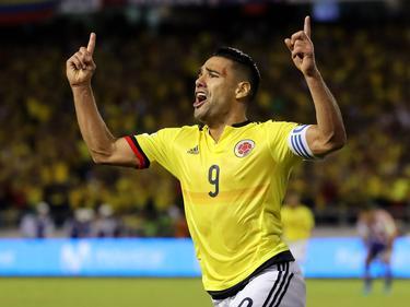 Falcao celebra un tanto contra Paraguay. (Foto: Imago)