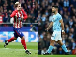 Antoine Griezmann (l.) steht bei Atlético Madrid unter Vertrag, Sergio Agüero bei Manchester City