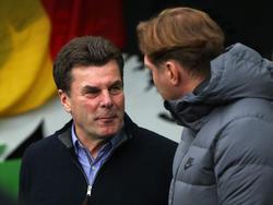 Ancelottis Kollegen Dieter Hecking (l.) und Ralph Hasenhüttl sind sich einig