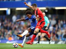 Enge Zweikämpfe bestimmten die Partie zwischen Chelsea und Huddersfield