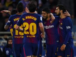 Suárez brilló en Anoeta con un doblete. (Foto: Getty)