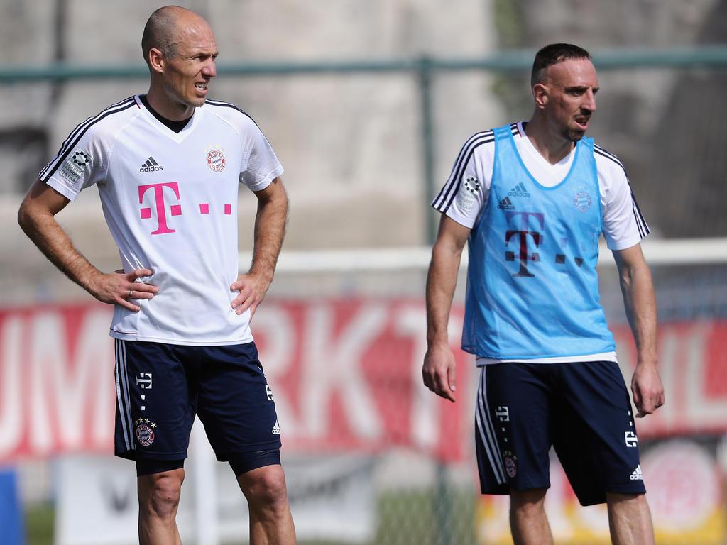 Arjen Robben und Franck Ribéry werden im April mit dem FCB über neue Verträge sprechen