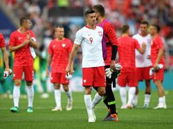 Robert Lewandowski war nach dem WM-Aus der Polen bedient