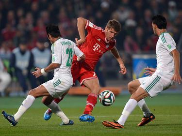 Die Spieler von Raja Casablanca durften gegen Weltstars wie Thomas Müller ran