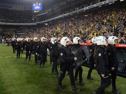 Imagen del partido interrumpido en Turquía. (Foto: Imago)