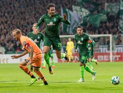 Belfodil (Mitte) erzielte den Siegtreffer für Werder