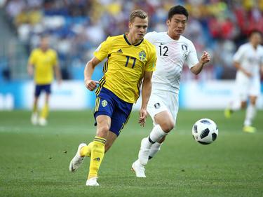 Viktor Claesson im ersten Spiel der Schweden gegen Südkorea