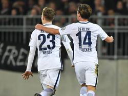 Mitchell Weiser (l.) und Valentin Stocker nehmen wieder am Training Hertha teil