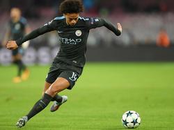 Leroy Sané hat sich bei Manchester City für das Spiel beim FC Basel wieder fit gemeldet