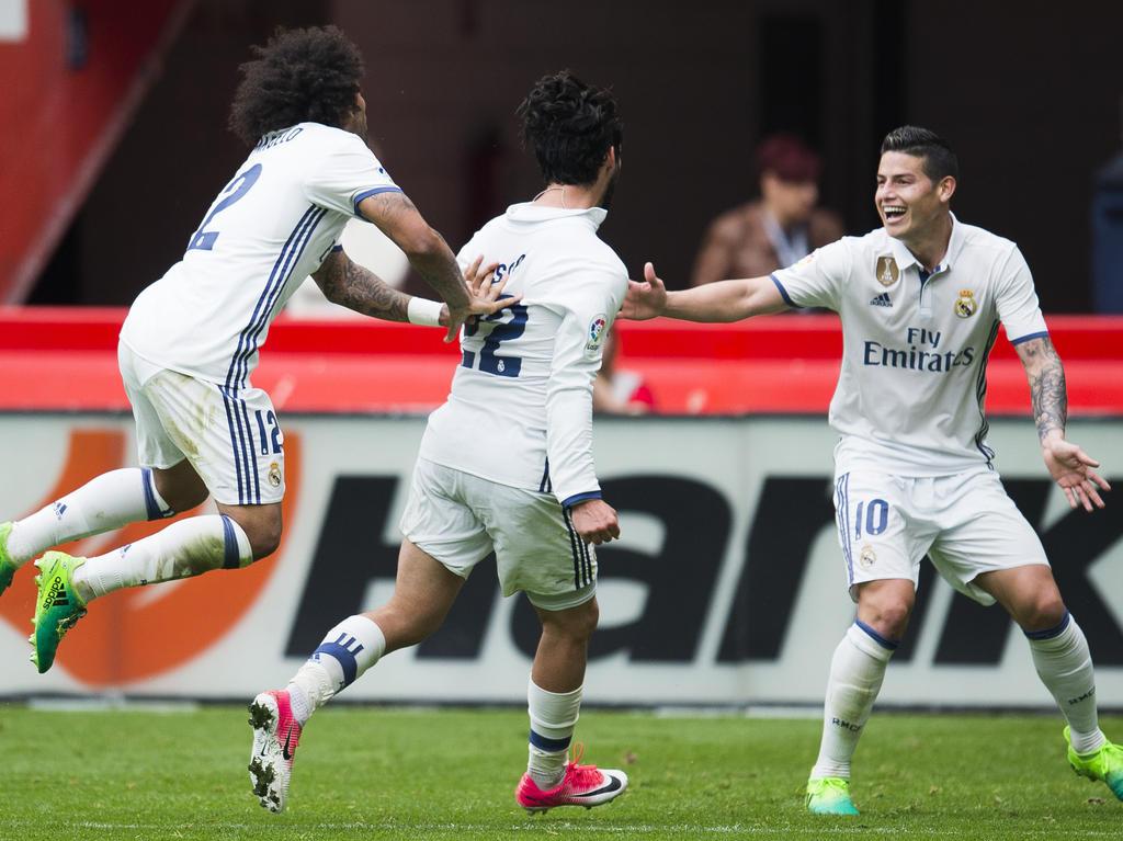 Real Madrid hat einen Last-Minute-Sieg gegen Gijón eingefahren