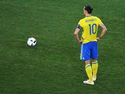 Zlatan Ibrahimovic con la camiseta de Suecia. (Foto: Getty)
