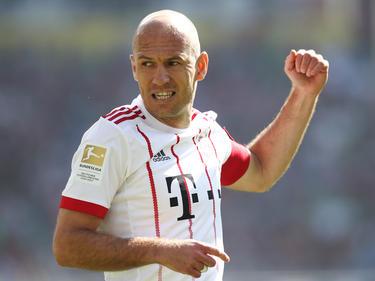 Arjen Robben führte den FC Bayern als Kapitän aufs Feld