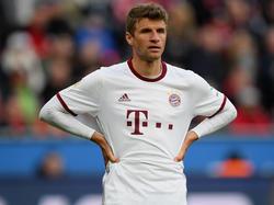 """Thomas Müller ist nach dem Remis gegen Leverkusen """"stinkig"""""""