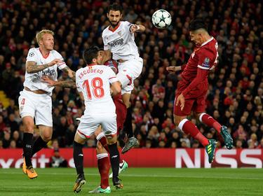 El Sevilla sufrió mucho en Liverpool y ahora quiere desquitarse ante los suyos. (Foto: Getty)