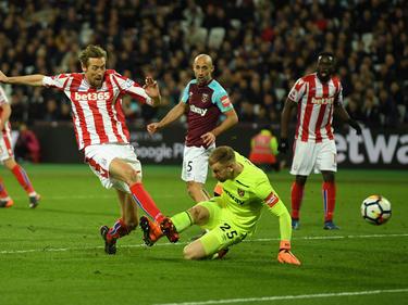 Peter Crouch anotó al Stoke en el minuto 79. (Foto: Getty)
