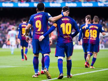 Luis Suárez (l.) und Lionel Messi trafen entscheidend für ihre Farben