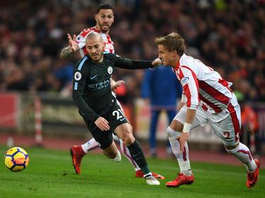 David Silva brilló con un doblete contra el Stoke. (Foto: Getty)
