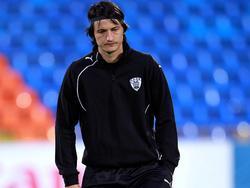 PAOK-Coach Vladimir Ivić wurde von einem Wurfgegenstand getroffen