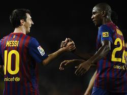 Leo Messi und Éric Abidal spielten sechs Jahre beim FC Barcelona zusammen