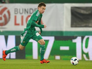 Attila Szalai bei seinem einzigen Bundesliga-Einsatz für Rapid