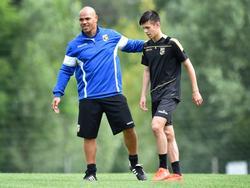 Het zestienjarige talent Mitchell van Bergen is ook op trainingskamp met Vitesse (14.07.2016)