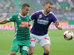 Das Duell von Louis Schaub mit Petar Filipović im Derby ist Geschichte