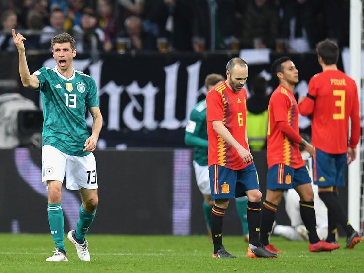 Thomas Müller traf zum 1:1-Ausgleich für die deutsche Mannschaft