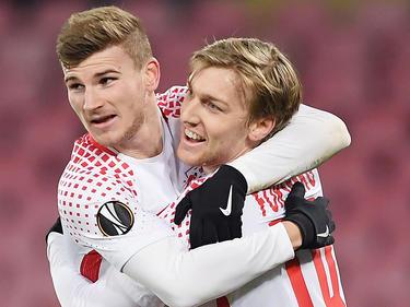Timo Werner und Emil Forsberg werden am Samstag zu Kontrahenten