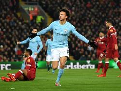 Sané tras marcar contra el Liverpool. (Foto: Getty)