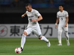 Verbesserte sich mit Vissel Kobe in der J-League auf Platz sechs:Lukas Podolski