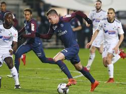 Julian Draxler (M.) gewann mit Paris Saint-Germain im Pokal gegen Amiens mit 2:0