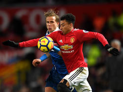 Für Moritz Bauer gab es gegen Manchester United viel zu tun