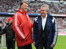 Kennen sich aus der Bundesliga: Louis van Gaal und Jupp Heynckes