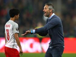 Marco Rose (re.) ist mit Salzburg knapp am Finale gescheitert