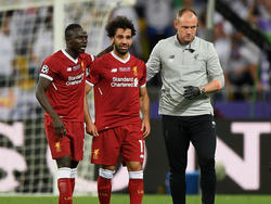 Mohamed Salah (M.) droht das WM-Aus
