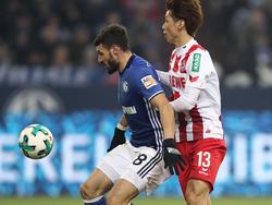 Osako (re., Köln) und Caligiuri (li., Schalke) sind Kandidaten für die Startelf