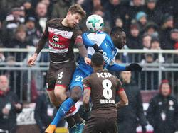 Dem FC St. Pauli gelang ein knapper Heimsieg gegen die Kieler Gäste